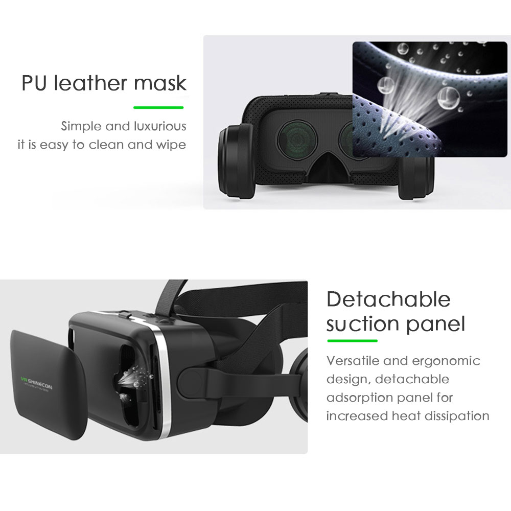 Hot-selling VR Virtual Reality Casque 3D Goggles Headset Helmet Box Stereo Game Cinema For 4.7-6.0 inches iPhone Android Phones 3