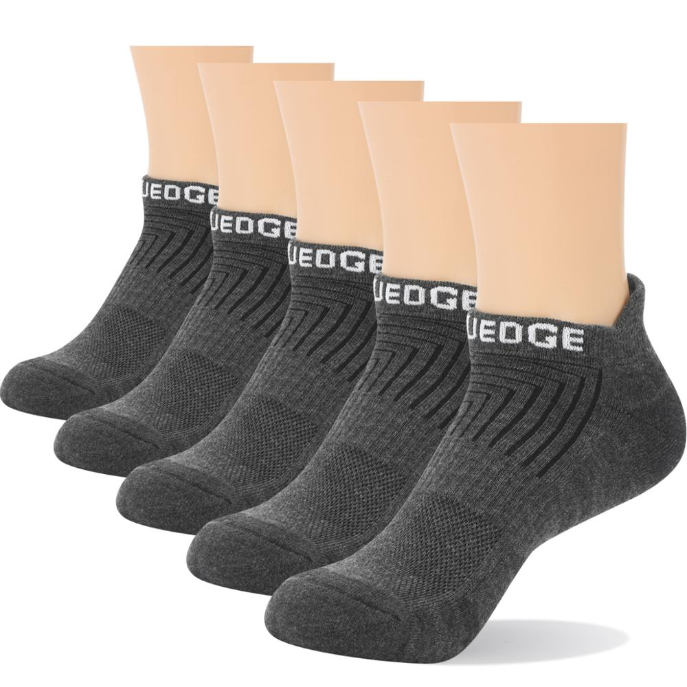 running - YUEDGE Men Women Wick Breathable Cotton Cushion Casual Athletic Sports Running Low Cut Ankle Socks(5 Pairs/Pack)