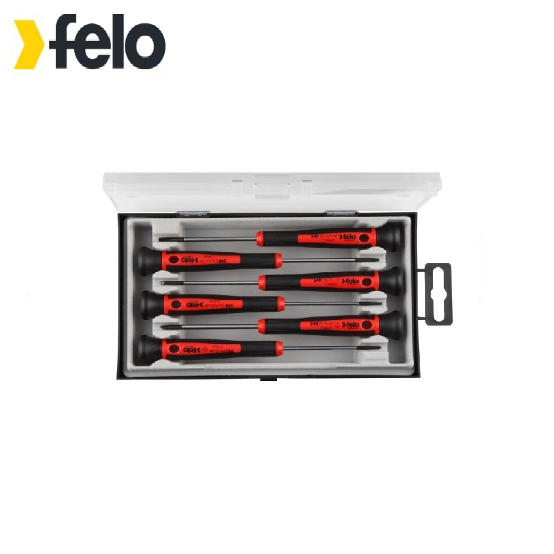 Felo Screwdriver set for precision work, 6 pcs 24096156  Used for installation, dismantling works 1pc used 6es7365 0ba01 0aa0