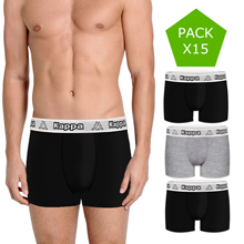 KAPPA pack 15/30/50 mens boxer shorts in variety of colors 100% cotton