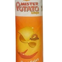 Mr potato chips hot and spice (2 boxes 260 g) gorgeous hot sauce   FREE SHİPPİNG