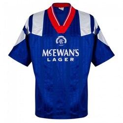 Футболки для взрослых Rangers Retro 92 94 Camisa de futebol рубашка GASCOIGNE домашняя рубашка Maillot Camiseta винтажная Классическая рубашка Futbol Camisa
