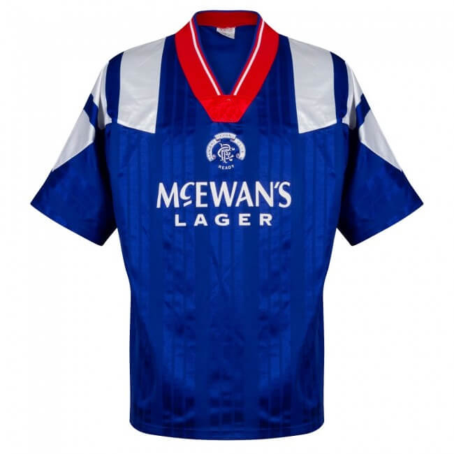 Adult T-shirts Rangers Retro 92 94 Camisa de futebol shirt GASCOIGNE shirt Home Maillot Camiseta vintage classic Futbol Camisa