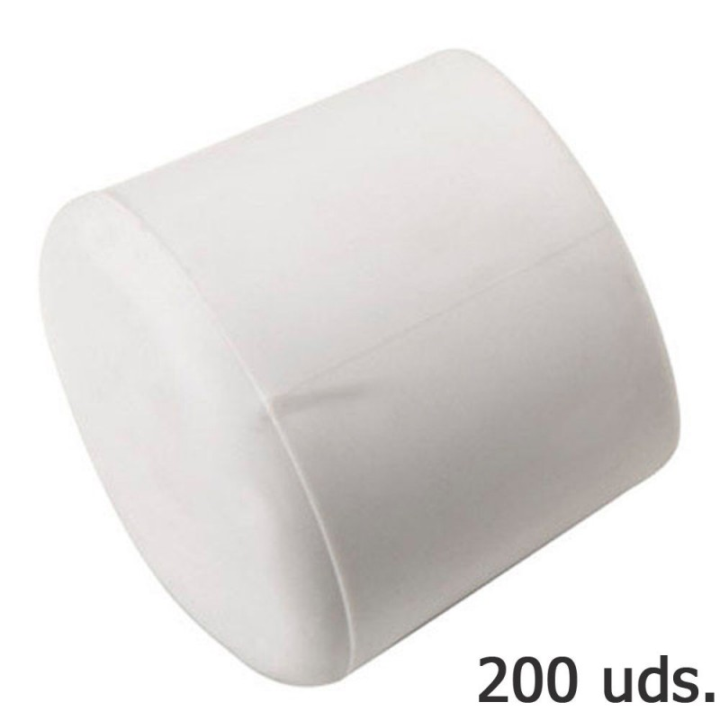Cone Plastic Round White Outer 8 MM. Bag 200 PCs