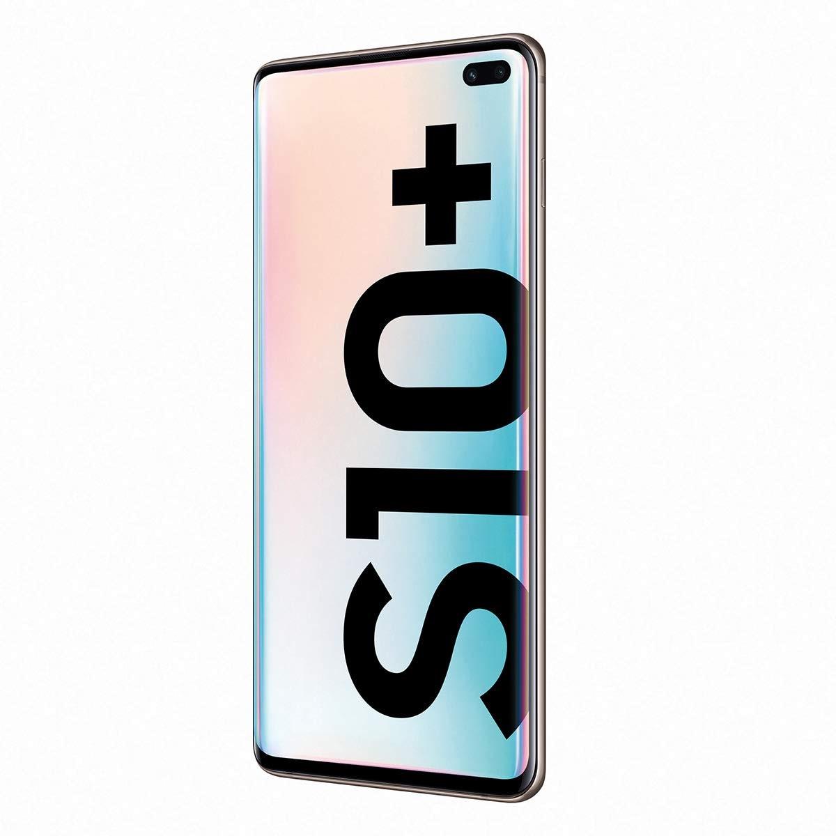 Samsung Galaxy S10 +, bande LTE/WiFi, double SIM, couleur noire (noir), 12 8 go de mémoire Interna, 8 go de RAM, écran D