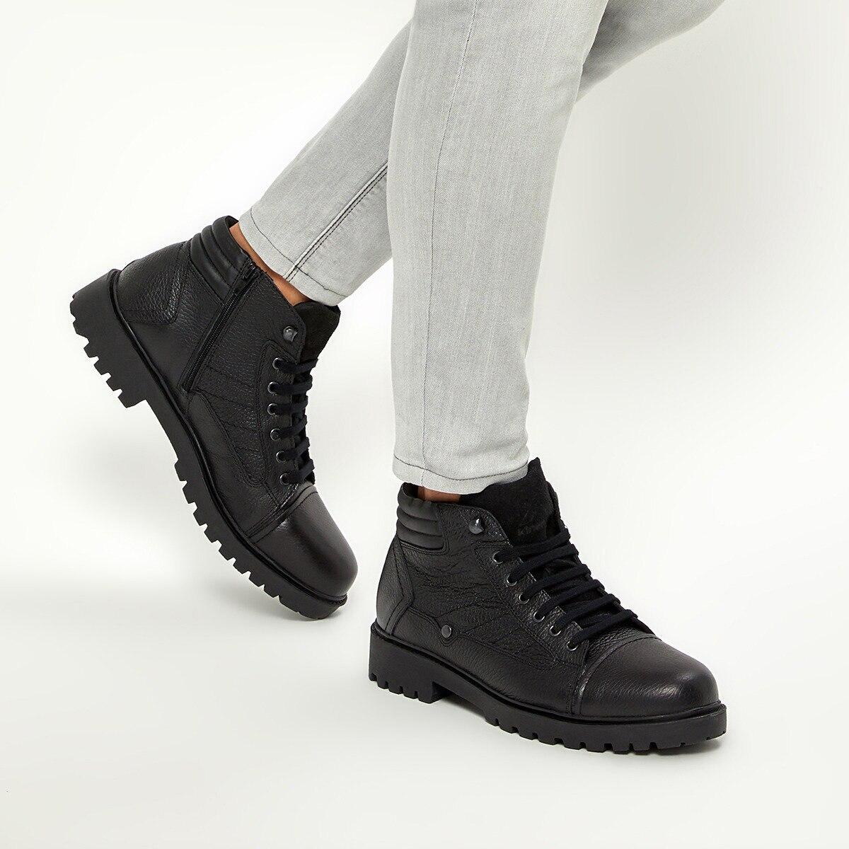 FLO KENTON 9PR Black Men Boots KINETIX