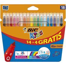 SERESSTORE Bic Kids Couleur (Ultra lavable) Crayons en feutre 14 + 4 couleurs-papeterie-papeterie-papeterie-marqueurs-journal-pastel-papeterie-papeterie-marqueurs-fourniture scolaire-stabilo-stylo kawaii-surligneur
