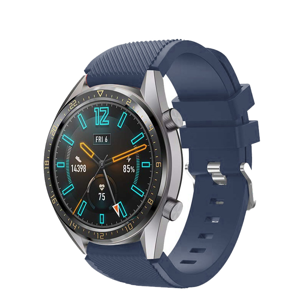 Correas pulsera de recambio para Huawei Watch GT 2 / Honor Magic Watch 2, 42 y 46mm silicona flexible de colores cierre de metal-3