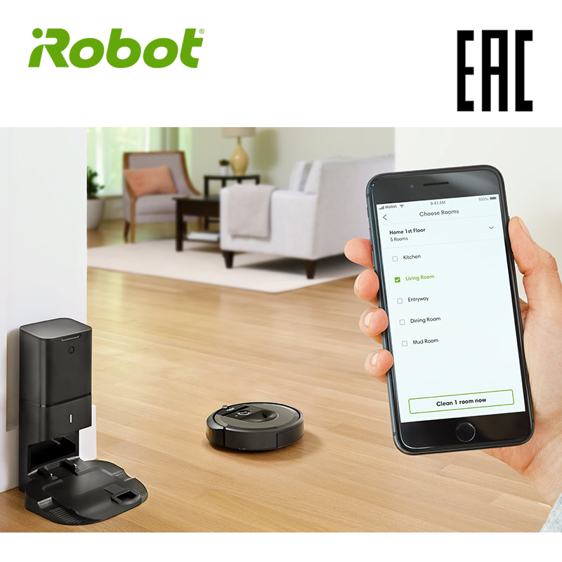 iRobot Roomba i7+ High Suction Electric Automatic Robot Vacuum Cleaner Sweeping Dust Sterilize APP Floor Cleaning Home Household цена и фото
