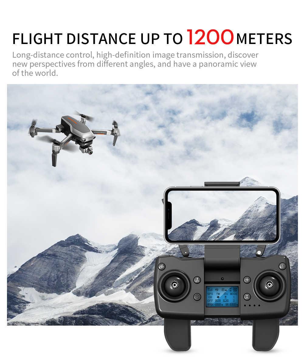 L109 برو X1 برو غس الطائرة بدون طيار 4K اثنين من محور المضادة للاهتزاز كاميرا ذات محورين هد 5G واي فاي FPV فرش السيارات 1.2 كجم لمسافات طويلة أجهزة الاستقبال عن بعد