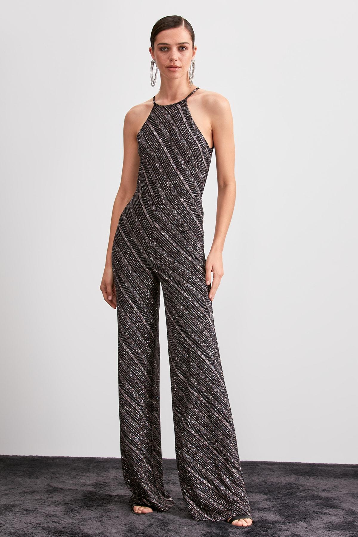 Trendyol Halter Collar Jumpsuit TPRSS20TU0005