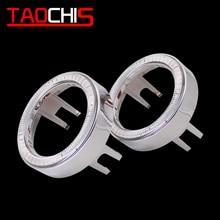 TAOCHIS YT615 2 шт 2,5/3,0 дюйма Противотуманные фары би ксенон светодиодный проектор Объектив shroud DRL кольца Автомобильные фары глаза ангела Белый