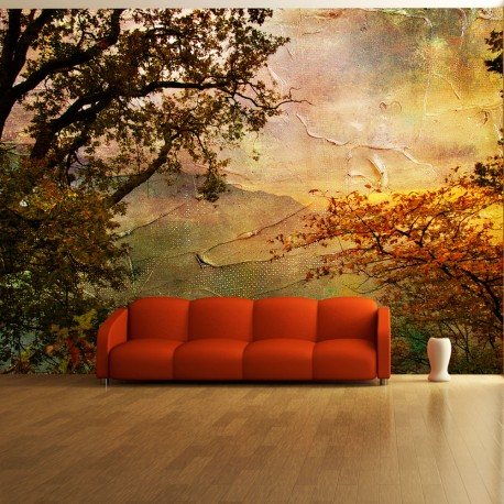 Photo Wallpaper-Painted Autumn