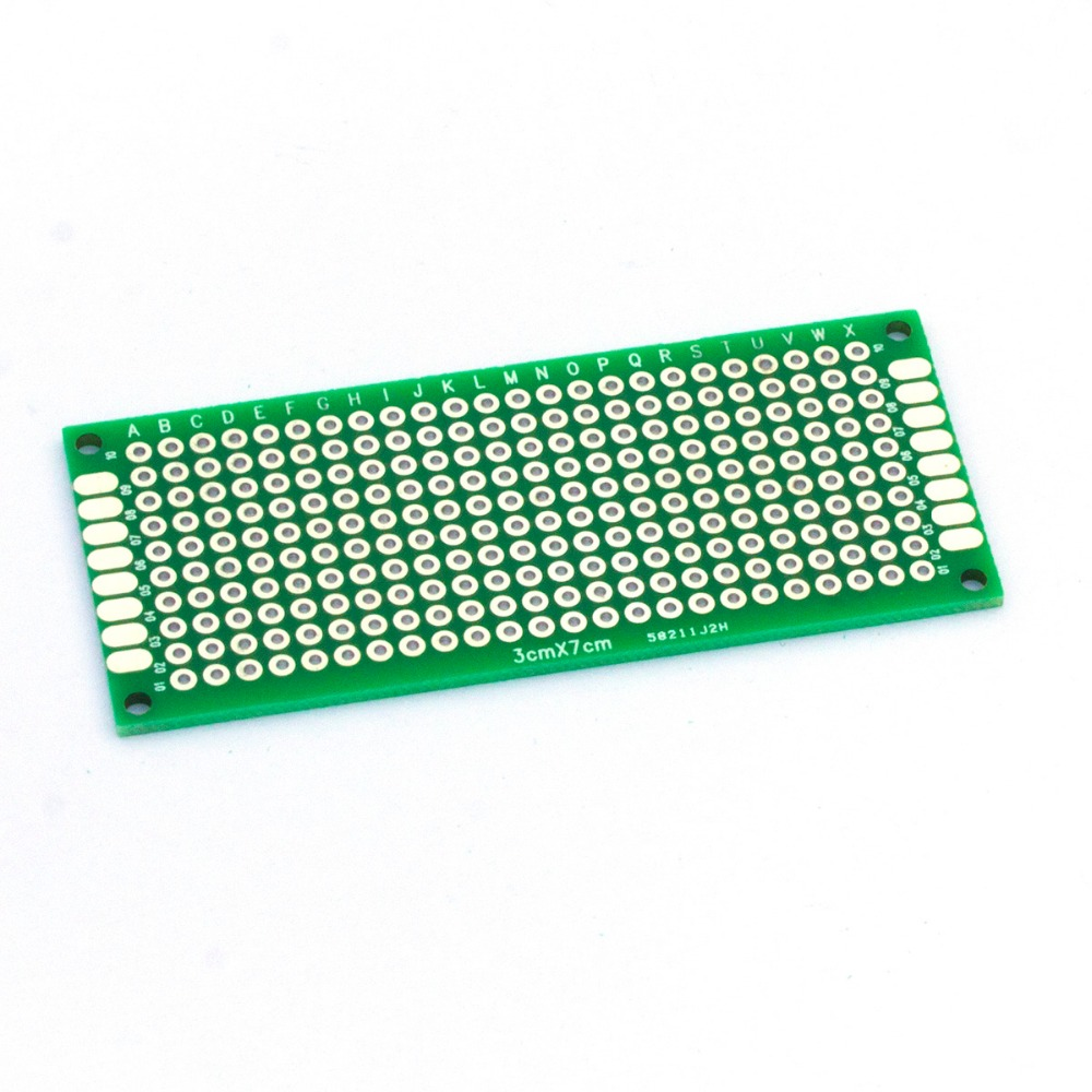Taidacent 10 Pcs Fr4 Double Sided PCB Universal Board 3x7cm 2.54mm Pitch Two Sided PCB Universal Printed Circuit Board