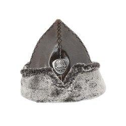 Kayı Tribe Dirilis Ertugrul Turco Ottomano Coat of Arms Burk Cappello, Berretto di Cuoio di Inverno