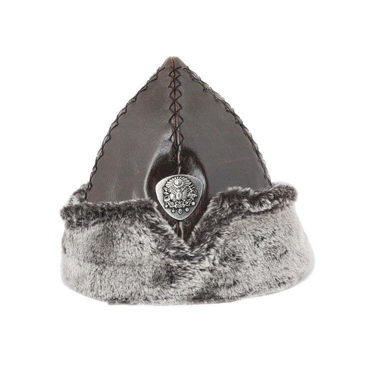 Kayı Tribe Dirilis Ertugrul Turkish Ottoman Coat Of Arms Burk Hat, Leather Winter Cap