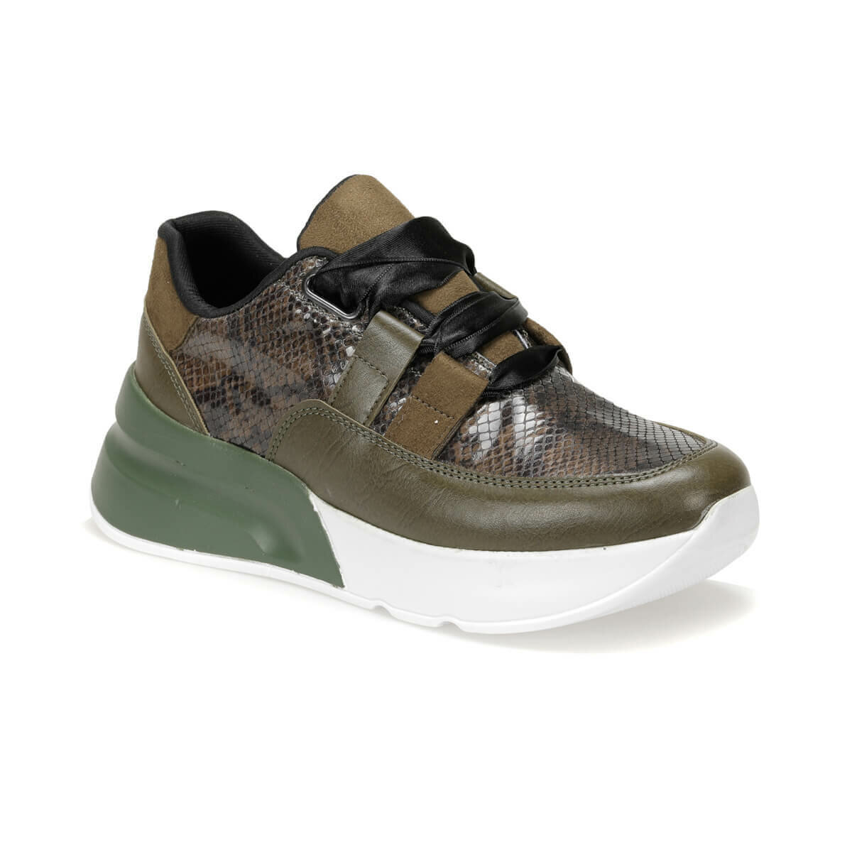 FLO Green Khaki Women's Sneakers Casual Sport Shoes BUTIGO KİBA56Z SKIN