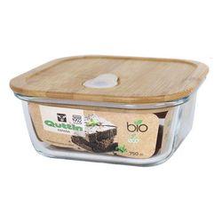 Kwadratowe pudełko z pokrywką na Lunch Quttin Bamboo 750 Cc w Pudełka śniadaniowe od Dom i ogród na