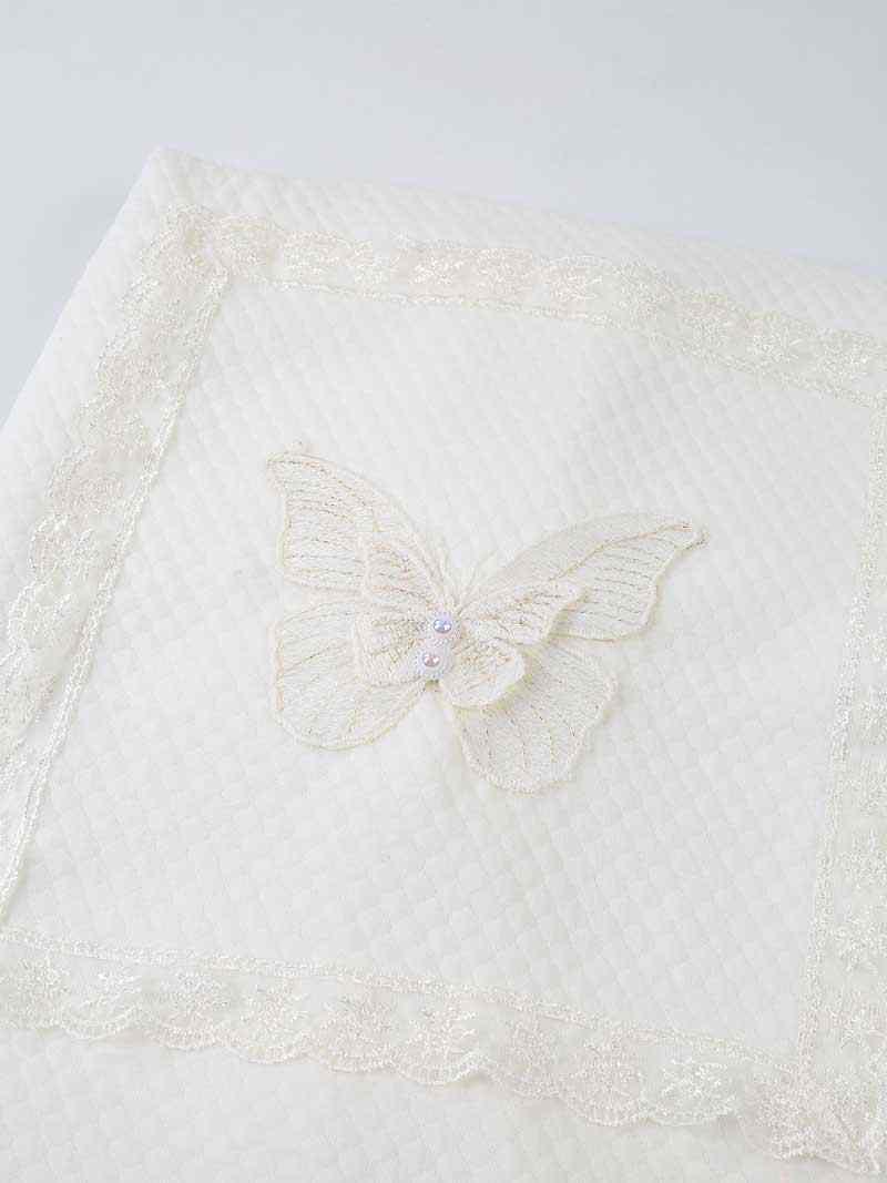 Шаль для новорожденных мальчиков и девочек, детское одеяло с вышивкой в виде короны бабочки, Повседневная кровать, очень мягкая текстура, здоровая антиаллергическая модель