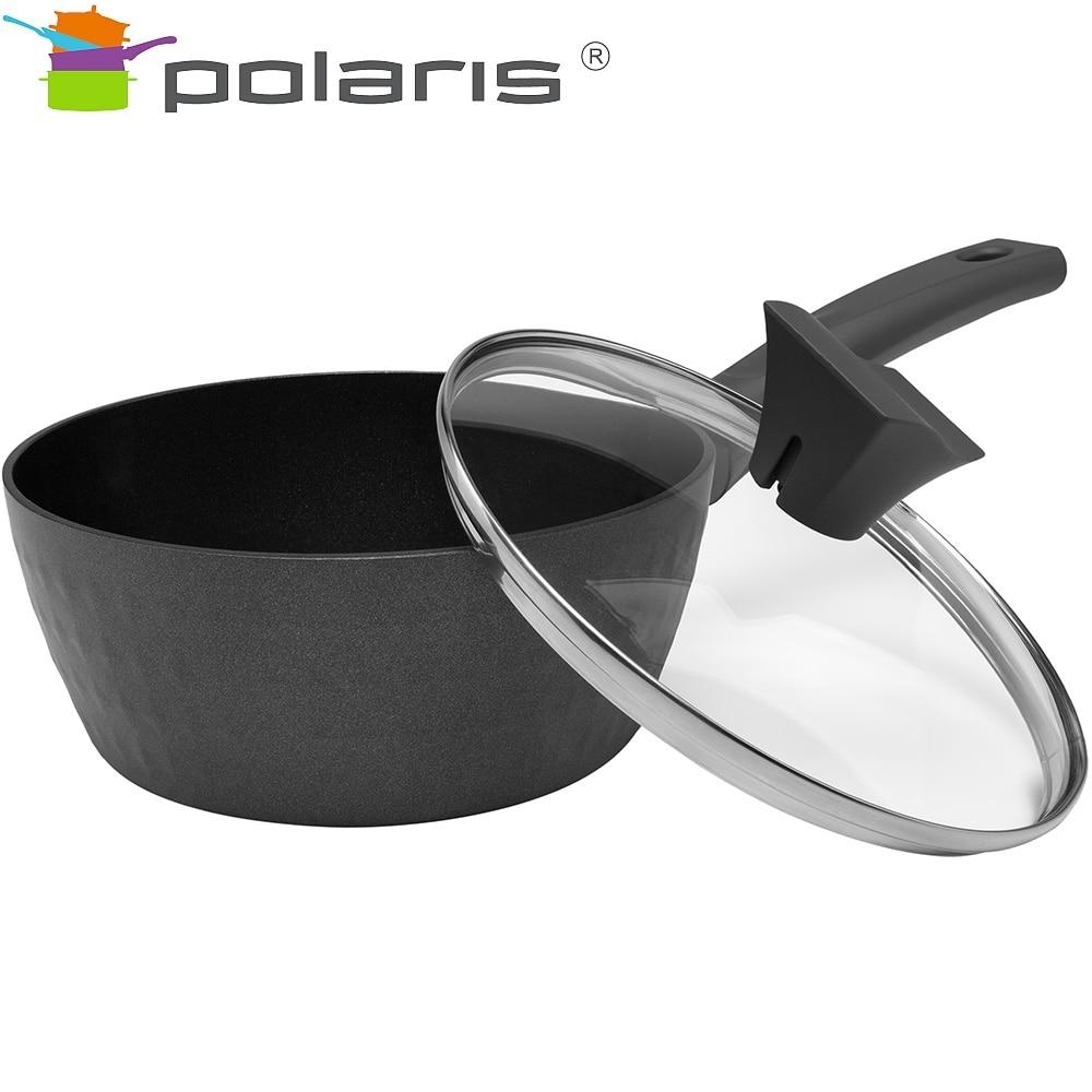 Bucket with lid Polaris Kontur-18SP Kitchen set Tableware with lid ladle mug with lid