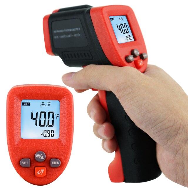 ללא קשר הדיגיטלי IR מדחום אינפרא אדום 50 ~ 550 ℃ ( 58 ~ 1022 ℉) lasergrip מיידי קריאת w/סריקת פונקצית טמפרטורה