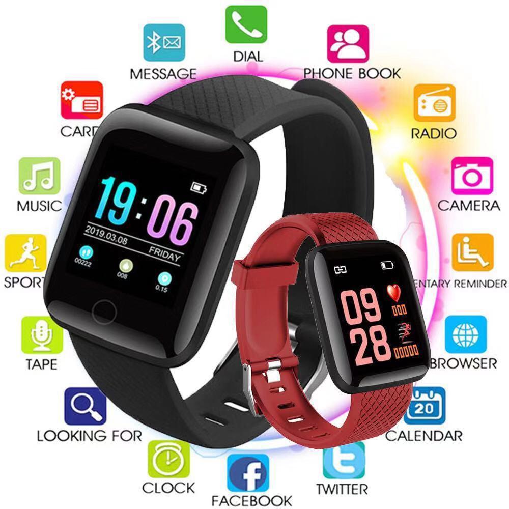 2PCS D13 Smart Watches 116 plus Smart Bracelet Wristband Heart Rate Watch Men Women Sport Watches Smart Band Sport Smartwatch