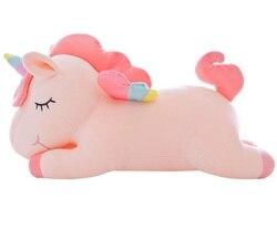 Hohe Qualität Große Einhorn Spielzeug Weiche Stofftier & Plüsch Spielzeug Plüsch Einhorn Pferd Puppe Kinder Puppe für Kinder Geschenk günstige Spielzeug
