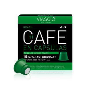 VIAGGIO ESPRESSO - 120 coffee capsules compatible with Nespresso machines (Brazil)
