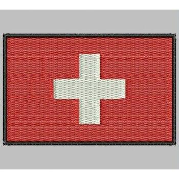 Bandera Suiza Para Mascarilla Parche Bordado Sắt Miếng Dán Toppa Ricamata Gestickter Miếng Dán Miếng Dán Brode