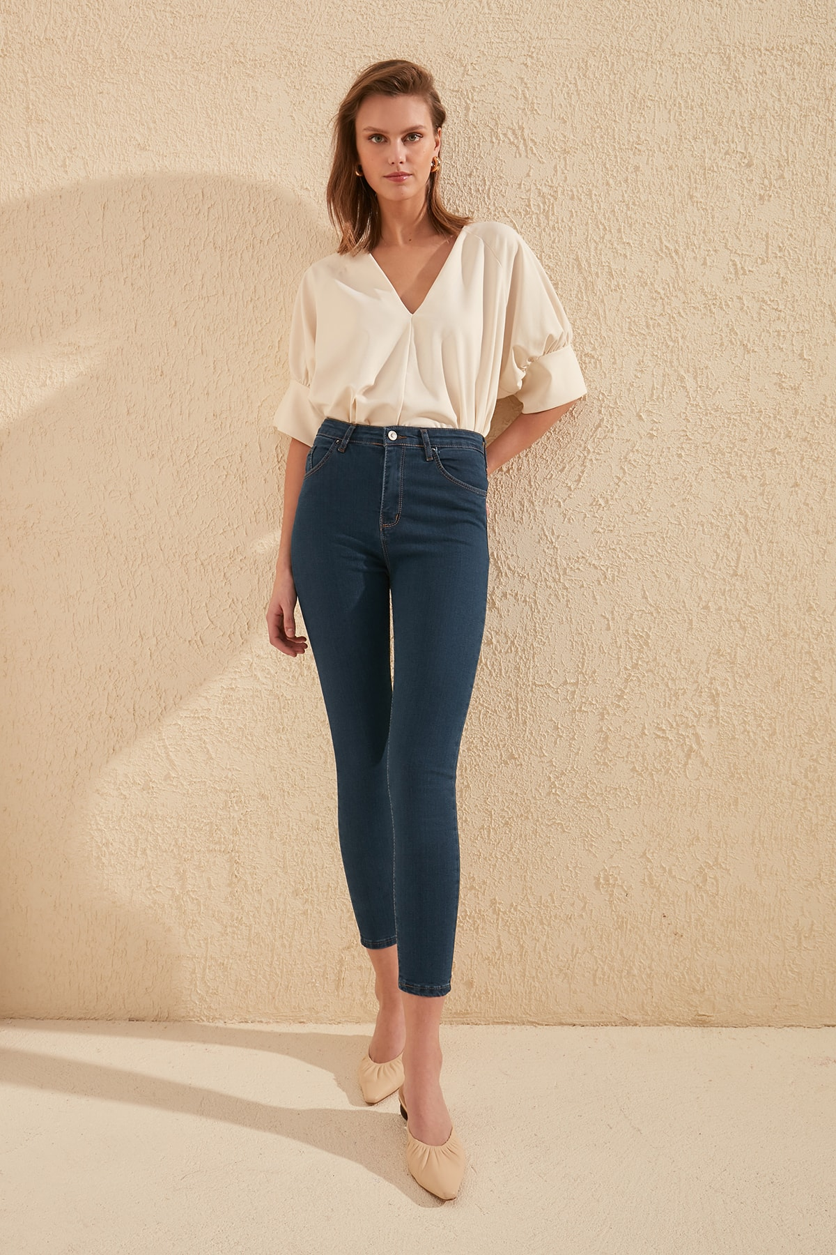 Trendyol High Waist Skinny Jeans TWOSS20JE0301
