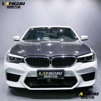 For BMW 5 Series G30 G38 Sedan 4dr 2017 2018 2019 2020 F90 M5 Style Polypropylene PP Carbon Body Kit Bumper Diffuser Spoiler Lid