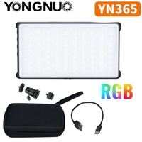 YONGNUO YN365 RGB LED Video Pocket luz 12W en cámara colorida iluminación de fotografía para Canon Sony Nikon DSLR YN365RGB