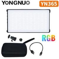 YONGNUO YN365 RGB LED Video Pocket Light 12W On Camera Colorful Photography Lighting For Canon Sony Nikon DSLR YN365RGB