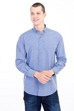 Kigili мужские рубашки с длинным рукавом, одноцветная оксфордская рубашка, Высококачественная Мужская Повседневная приталенная рубашка на пуговицах