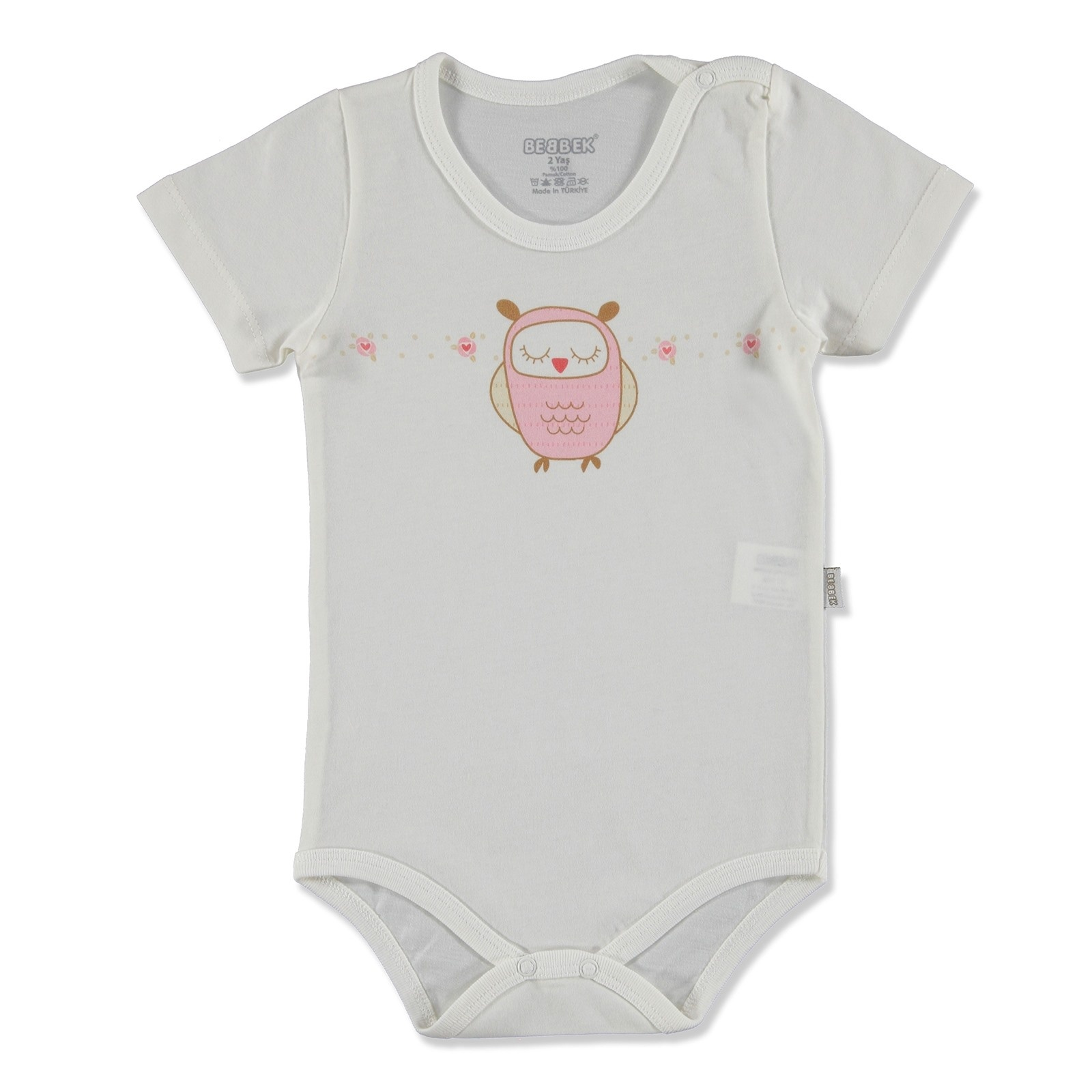 Ebebek Bebbek Summer Baby Girl Dream Big Supreme Crew-Neck Bodysuit