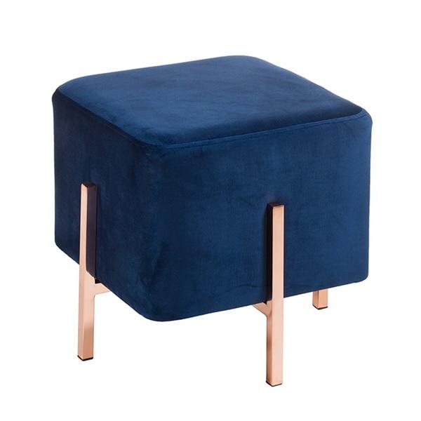 Stool (45 X 45 X 43 Cm) Velvet Blue