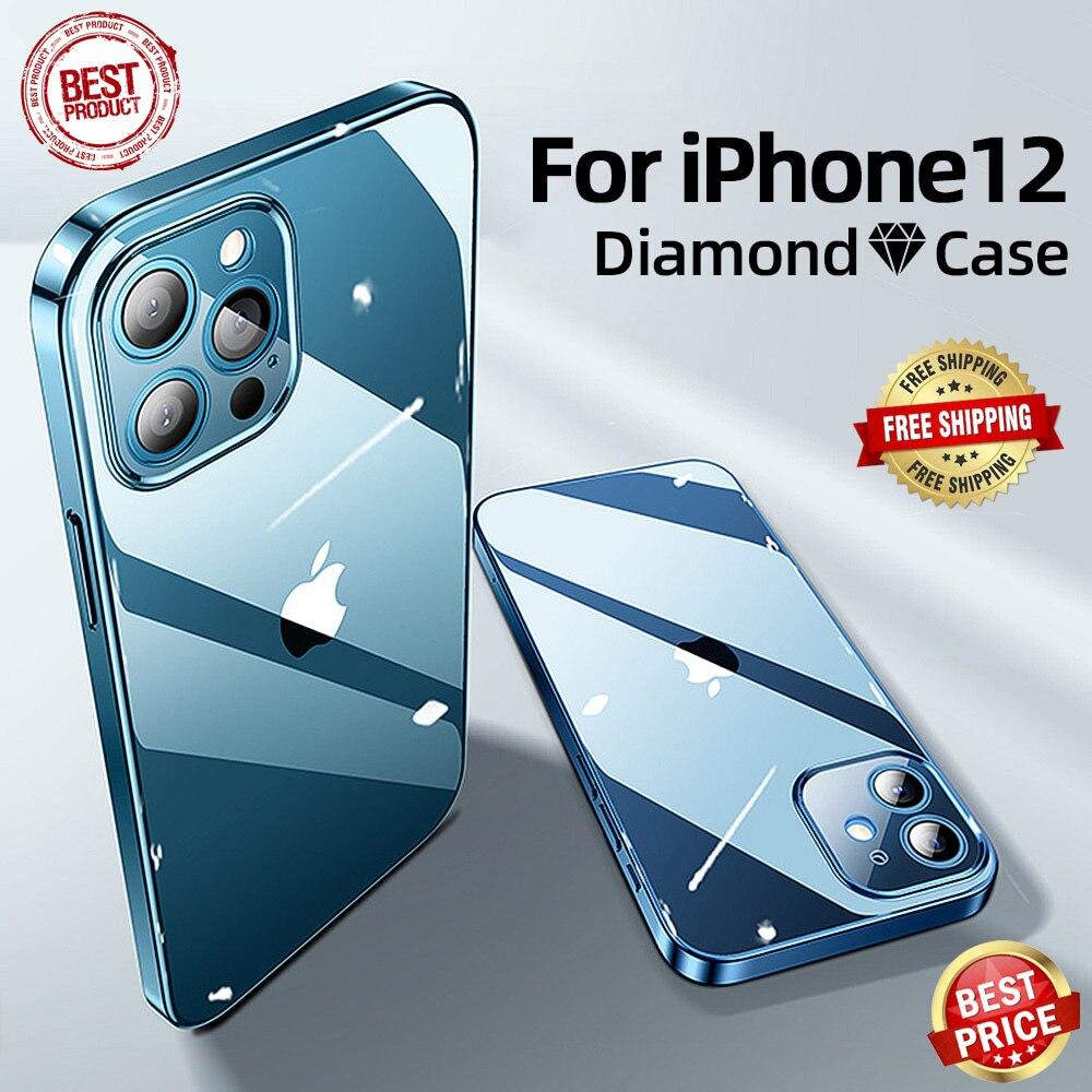 Противоударный прозрачный защитный чехол премиум класса для iPhone 12 11 Pro Max