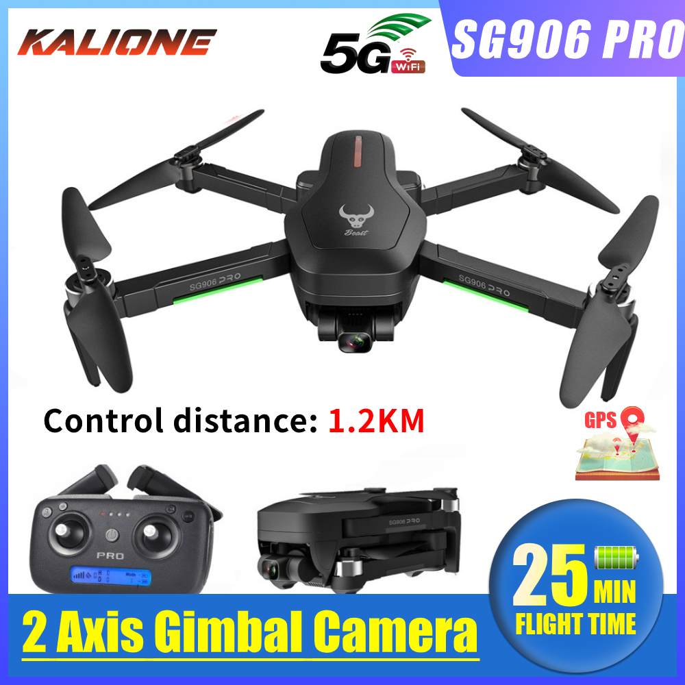 2020 SG906 Pro quadcopter GPS Drone with 4K 5G WIFI 2-axis gimbal Dual camera profissional Brushless  ESC 50X Zoom 1 2KM 25mins