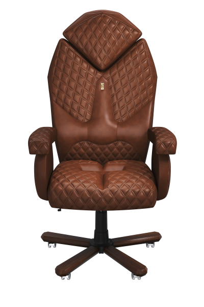 Office Chair KULIK SYSTEM DIAMOND Brown Elite Ergonomic High Quality Material New Technology Comfort