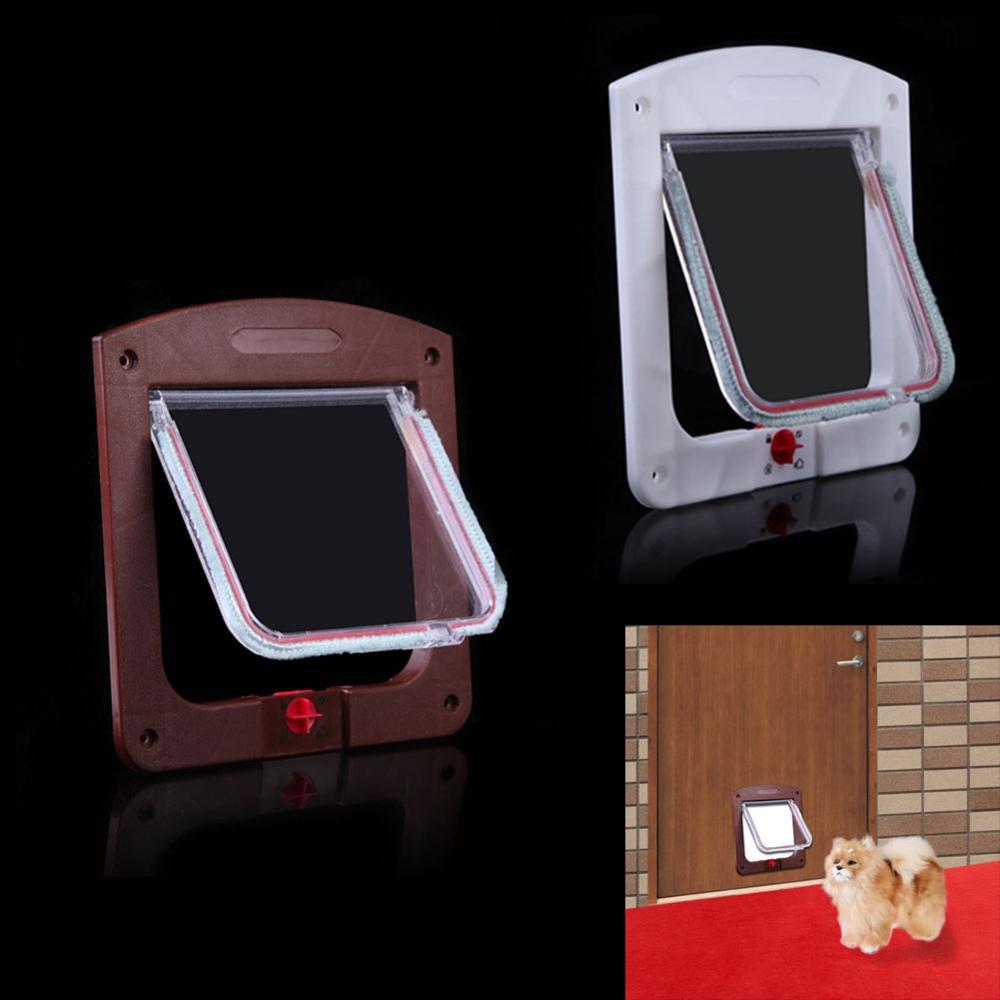 Lockable Cat Flap Door Kitten Dog Pet Lock Suitable For Any Wall Or Door Dropshipping
