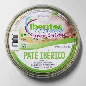 Iberitos - Pate Iberico lactose--10 pack x 140 gr - Total: 1400 gr
