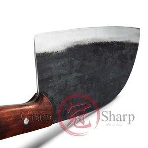 Image 5 - Couteau de Chef chinois fait main en acier au manganèse tranchage cuisine écologique outils pour la maison, Gadgets BBQ manche en bois