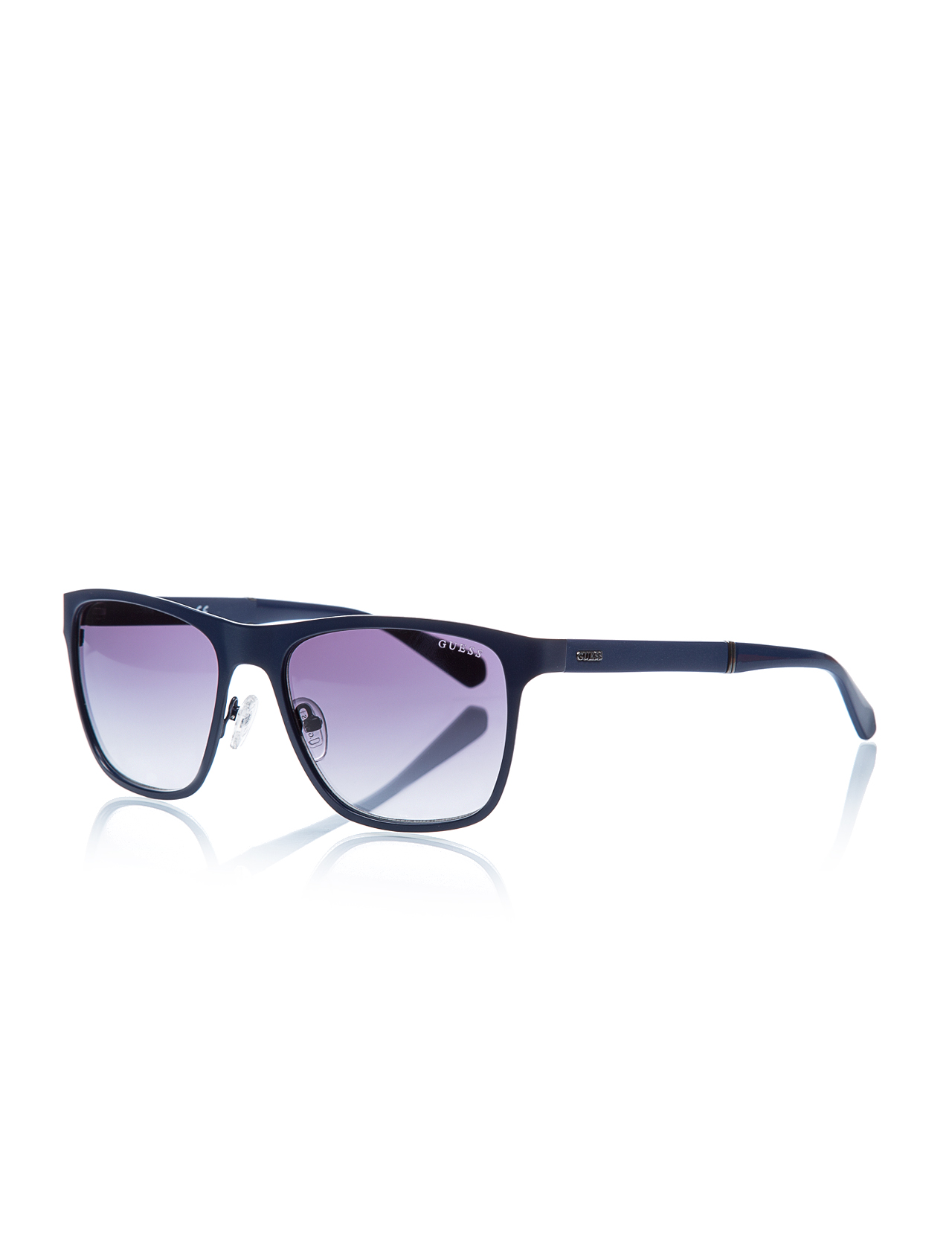 Men's sunglasses gu 6891 91x metal navy blue organic square square 57-18-140 guess