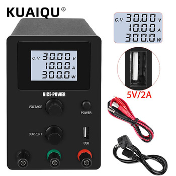 Newest 30V 10A Switching DC Laboratory Power Supply Adjustable 60V 5A Voltage Regulator Current Stabilizerw With USB 5V 2A image