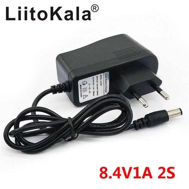 LiitoKala אופניים אור סוללה כוח מטען 8.4V 1A אופניים אור טעינת מתאם עבור פנס T6 אופניים מול אור LED