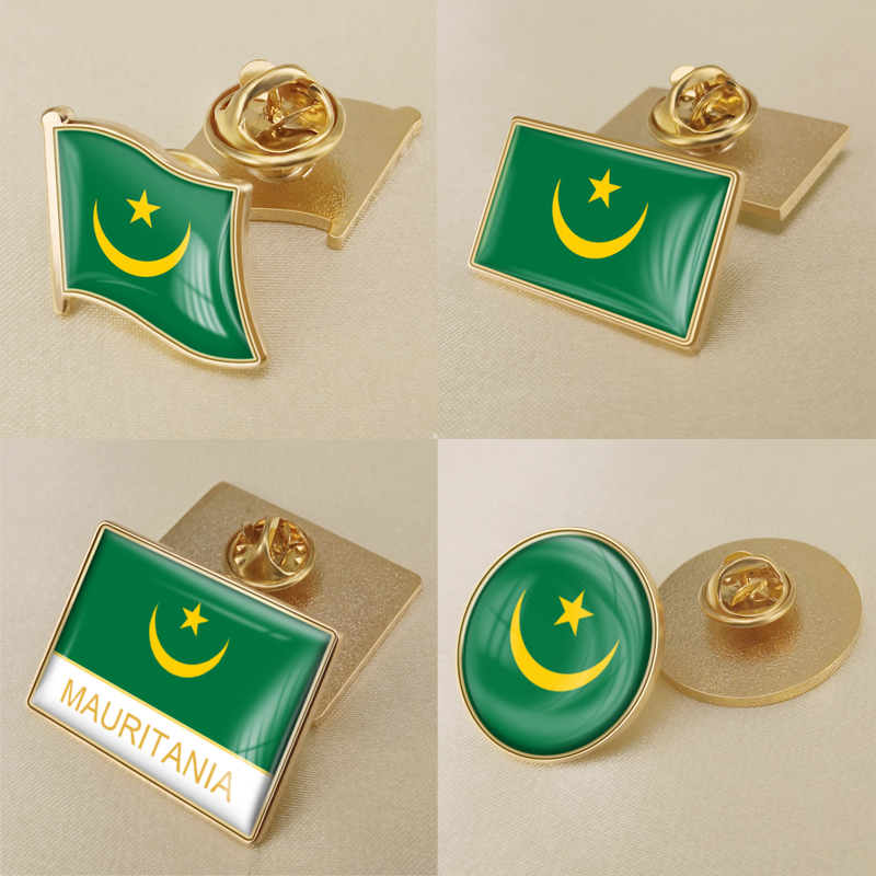 Mauritania Flag Cufflinks