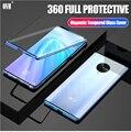 Чехол для VIVO NEX 3 360 ° полная защита Магнето магнитные чехлы крышка для VIVO NEX 3 5G адсорбционный металлический двойной стеклянный чехол