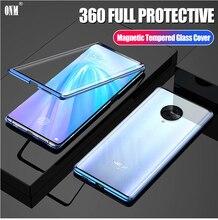 Case Voor Vivo Nex 3 360 ° Volledige Bescherming Magneto Magnetische Gevallen Cover Voor Vivo Nex 3 5G Adsorptie metalen Dubbele Glas Case