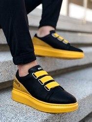 Boa BA0029 Noir et Jaune Décontracté Chaussures Pour Hommes