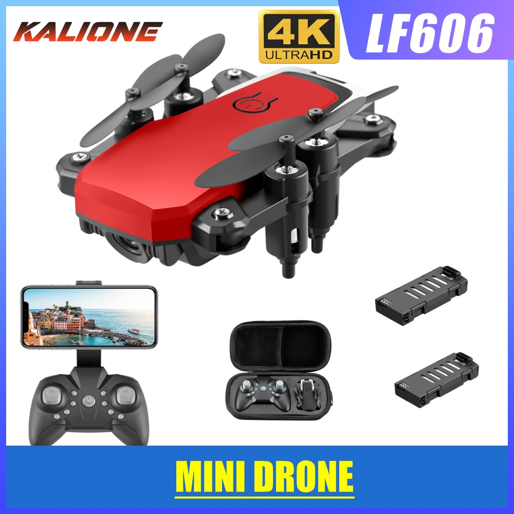 LF606 Wifi FPV Foldable RC Drone with 4K HD Camera Follow Altitude Hold 3D Flips Headless RC Helicopter Mini Aircraft Kid s Toys